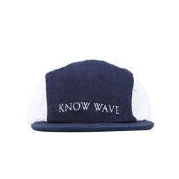 Know Wave Short Brim Mesh Hat Navy/ White
