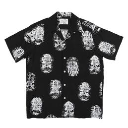 Wacko Maria Neck Face S/S Hawaiian Shirt Black