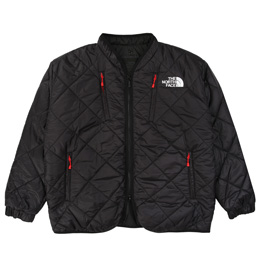 TNF KK Quilt Padded Cardigan - Black