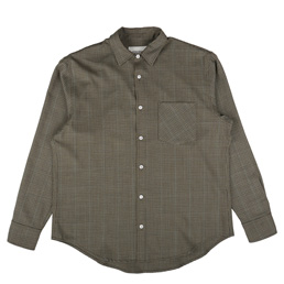 Noon Goons Sect Shirt Brown Houndstooth