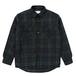 Noon Goons Mullen Tartan Shirt Jacket- Dark Tartan