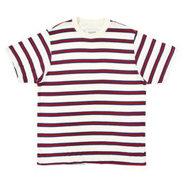 Noon Goons Surfer Stripe T-Shirt - Ecru/Red
