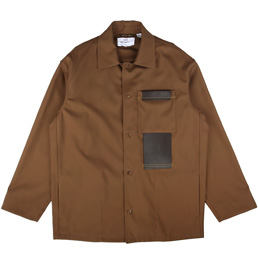OAMC Eroston Jacket Woven Dark Brown