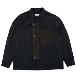 OAMC Overlay Shirt Woven Dark Blue