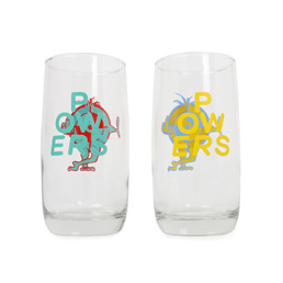 Powers FU Target Drinking Glasses (set)