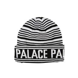 Palace Stripe Beanie - Black/White