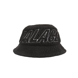 Palace Polartec Flee Bucket Hat - Black
