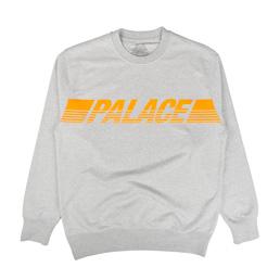 Palace Line Crew Grey