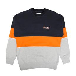 Palace Drop Shoulder Crew Navy/Orange/Grey
