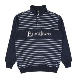 Palace PJ Popper Neck Sweat Navy