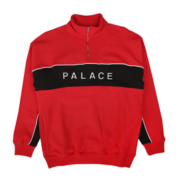 Palace Quart Funnel Pull Over Sweat Red