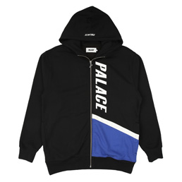 Palace Flaggo Zip Hood Black/ White/ Blue
