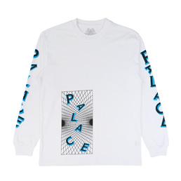 Palace Griddle L/S T-Shirt White