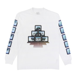 Palace PTV LS T-Shirt - White