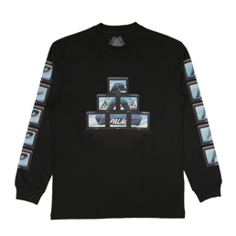 Palace PTV LS T-Shirt - Black