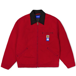 Carhartt x Paccbet Detroit Jacket - Red/Black Rins
