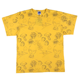 PACCBET Alien Pattern All Over T-Shirt Yellow