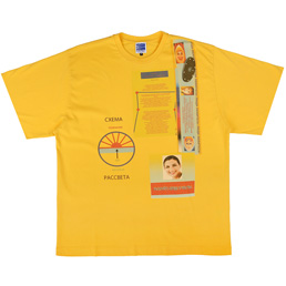 PACCBET Schematic Oversized T-Shirt Yellow