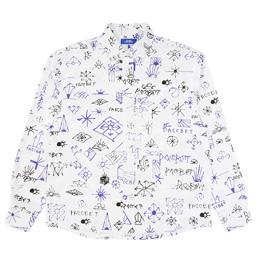 PACCBET Classic Printed Shirt White