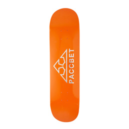 "PACCBET RASSVET Print 4 Deck 8"" Deck Orange"