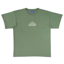PACCBET Logo Print T-Shirt Khaki