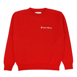 Proper Gang Embroidered Sweater - Red