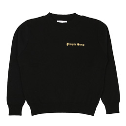Proper Gang Embroidered Sweater - Black