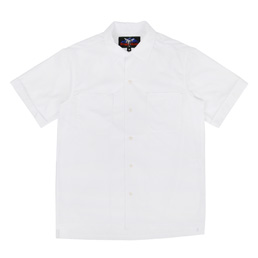 Proper Gang Loop Collar S/S Shirt White