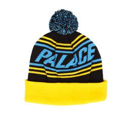 Palace Bobble Hat - Blue/Yellow