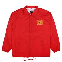 PRDIS3 Bail Bonds Coaches Jacket Red