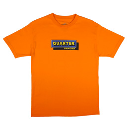 Quartersnacks Cafe T-Shirt Orange