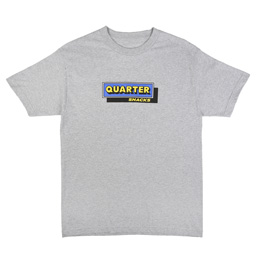 Quartersnacks Cafe T-Shirt Heather Grey