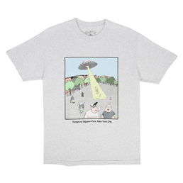Quartersnacks Abduction T-Shirt Ash Grey