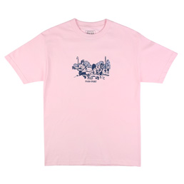 Passport Frisk Down T-Shirt Pink