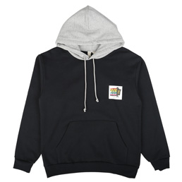Real Bad Man Two Tone Hoodie Navy/Ash