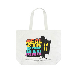 Real Bad Man TYVEK Tote Bag White