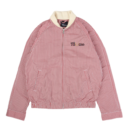 Thames x Fred Perry Gingham Bomber Light Ecru