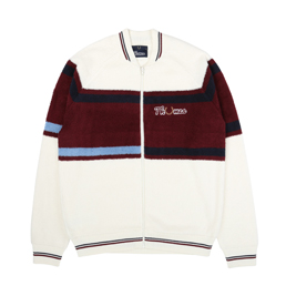 Thames x Fred Perry Loop Knit Bomber White