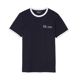 Thames x Fred Perry Embroidered T-Shirt Navy