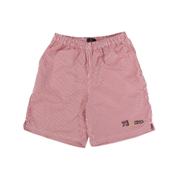 Thames x Fred Perry Gingham Shorts Light Ecru