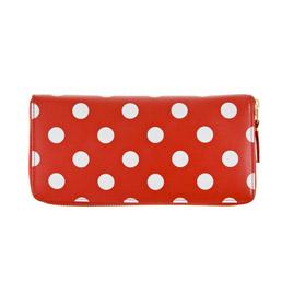 CDG SA0110PD Polka Dot Leather Red