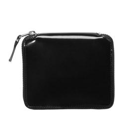 CDG SA2100MI Leather Wallet w/Mirror Silver