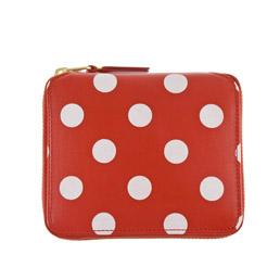CDG SA2100PD Polka Dots Wallet Red