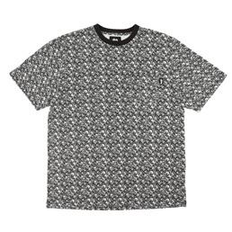 Stussy Bones Crew T-Shirt - Black