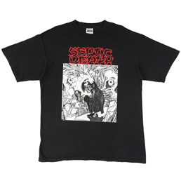 Septic Death Attention T-Shirt - Black