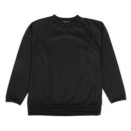 SOPHNET. Polyester Jersey Crewneck Black