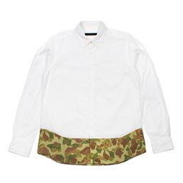 SOPH Camouflage End Panel Shirt White