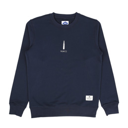 Madness Print Sweater Navy