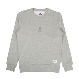 Madness Print Sweater Heather Grey