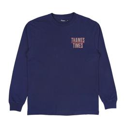 Thames Times L/S T-Shirt Navy